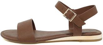 Tierney Cognac Wedge Sandals $21 thestylecure.com