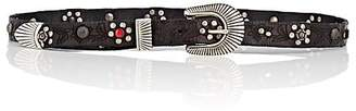 Campomaggi Women's Grigio Studded Leather Belt