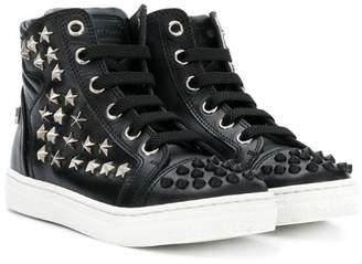 Philipp Plein Junior studded hi-top sneakers