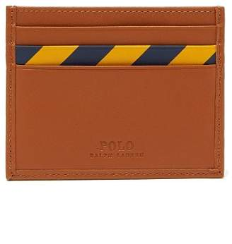 Polo Ralph Lauren Striped Leather Cardholder - Mens - Camel