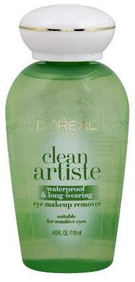 L'Oreal Clean Artiste Waterproof and Long Wearing Eye Makeup Remover 4 fl oz