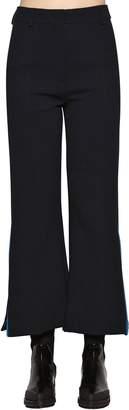 Sportmax High Waist Flared Stretch Wool Pants