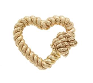 Twisted Heart Marla Aaron Lock Charm - Yellow Gold