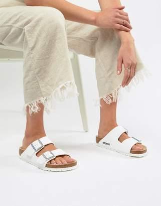 3c362bc38057 Birkenstock Arizona White Flat Sandals