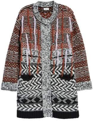 Caslon Multi Jacquard Sweater Coat