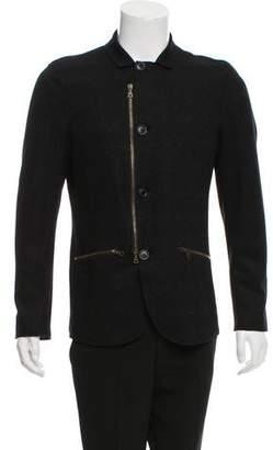 John Varvatos Wool-Blend Patterned Jacket