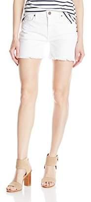 Parker Smith Women's High Rise Fray Short White