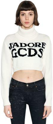 J'adore Gcds Cropped Cotton Sweater