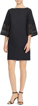 Lauren Ralph Lauren Laser-Cut Bell-Sleeve Dress $145 thestylecure.com