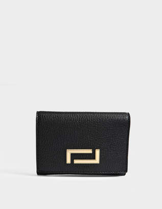 Lancel Pia Double Wallet in Black Grained Leather