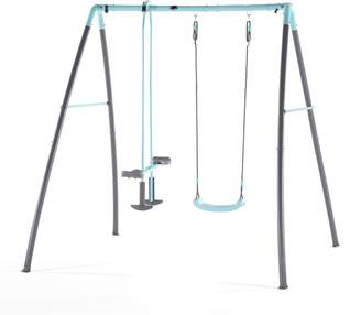 Plum Metal Single Swing And Glider With Mist