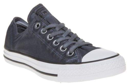 New Boys Blue All Star Ox Textile Trainers Canvas Lace Up