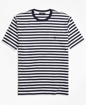 Brooks Brothers Bar Stripe Supima Cotton T-Shirt