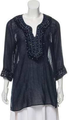 Calypso Embellished Sheer Tunic