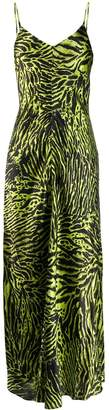 Ganni animal print maxi dress