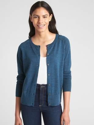 Gap Crewneck Cardigan Sweater in Merino Wool