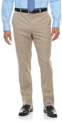 Apt. 9 Men's Premier Flex Extra-Slim Fit Flat-Front Tan Suit Pants