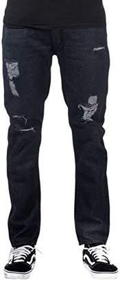 M. Gordon Men'S Heavy Stitch Denim Destructed Jeans