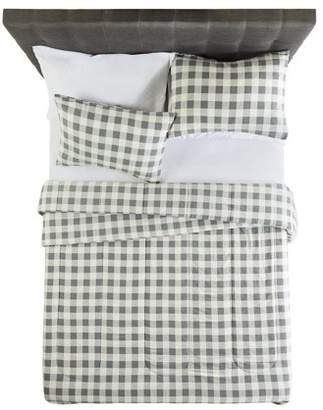 Buffalo David Bitton Mainstays Flannel Grey Plaid Comforter Set