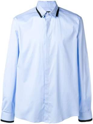 Les Hommes contrast collar shirt