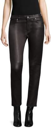 IRO Women's Zaslim Mid Rise Leather Pants