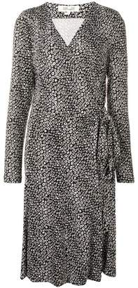 Diane von Furstenberg printed wrap-front midi dress