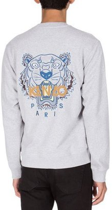 Kenzo Tiger Icon Knit Track Jacket, Gray $355 thestylecure.com