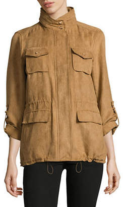Vince Camuto Faux Suede Anorak