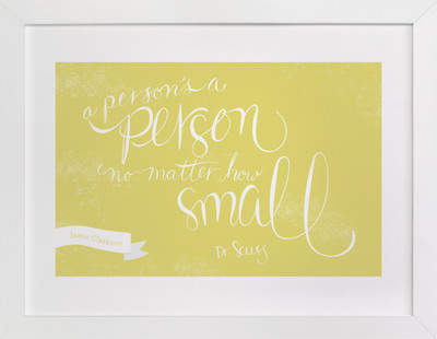 No Matter How Small Nursery Custom Art Print