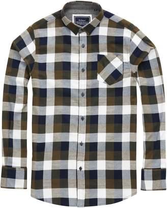 Brave Soul Mens Persuader Long Sleeve Check Shirt (M)