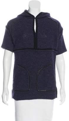 Isabel Marant Wool-Blend Short Sleeve Sweatshirt