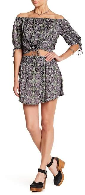 Free People Electric Love Crop Top & Skirt 2-Piece Set