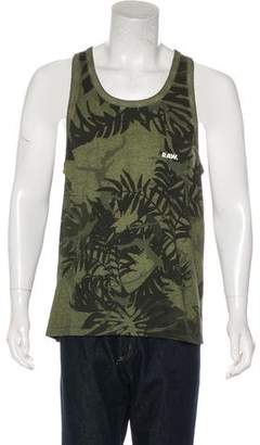 G Star Leaf Print Sleeveless T-Shirt