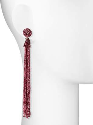 Panacea Seed Bead Tassel Duster Earrings