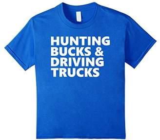 Hunting Bucks & Driving Trucks - Deer Hunting T-Shirt