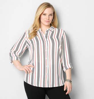 Avenue Striped Woven Tunic