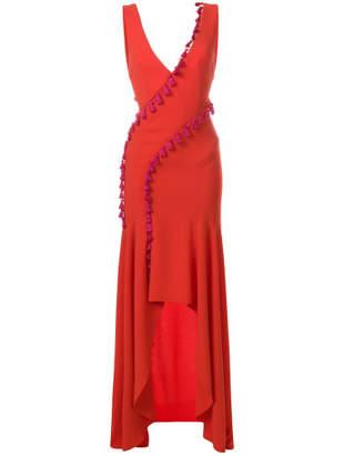 Galvan cuzco tassel dress