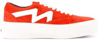 MSGM panelled sneakers