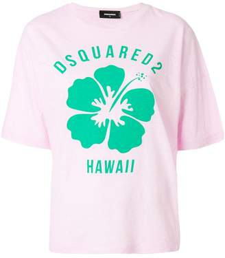 DSQUARED2 Hawaiian floral print T-shirt