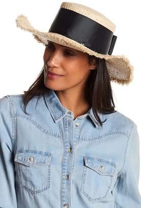 Nordstrom Rack Frayed Edge Boater Hat