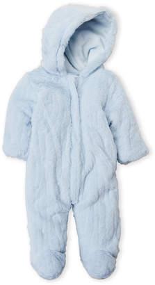 Baby Essentials Baby Dove (Newborn Boys) Fuzzy Zip Pram Suit