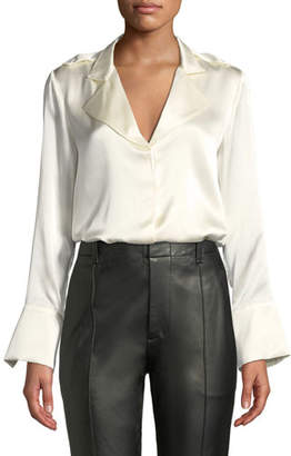 Alexis Aleson Silk Button-Front Top