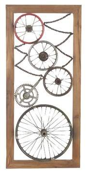 17 Stories Industrial Decorative Gears and Wheel Wall Dcor