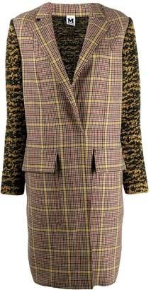 M Missoni plaid trench coat