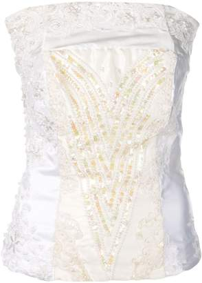 A.F.Vandevorst embroidered sleeveless top