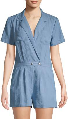 BCBGeneration Textured Cotton Romper
