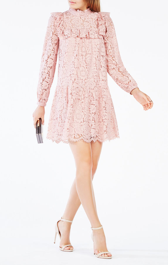 BCBGMAXAZRIALeonara Lace-Blocked Dress
