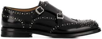 Church's microstud monk shoes