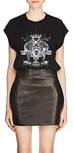 """Saint Laurent Women's """"Loving Romance League"""" Cotton Muscle T-Shirt - Black"""