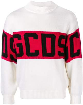 Gcds logo stripe sweater